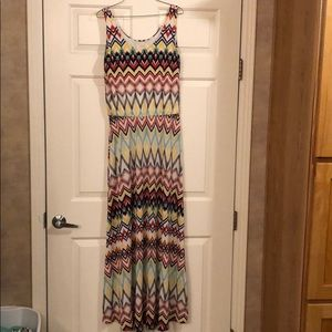 Large multicolor maxi dress